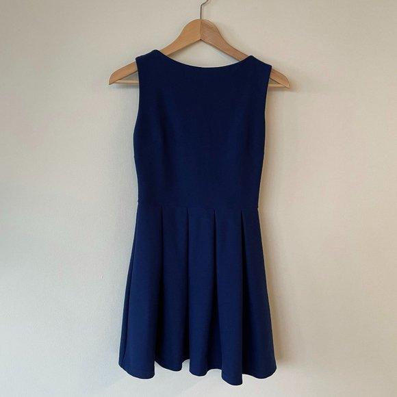 Topshop Blue Skater Mini Dress